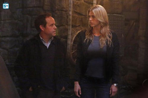 Peter McNicol Adrianne Palicki Purpose in the Machine Agents of SHIELD