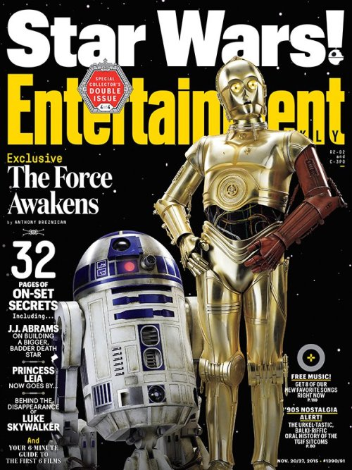Anthony Daniels Kenny Baker Star Wars The Force Awakens Entertainment Weekly cover