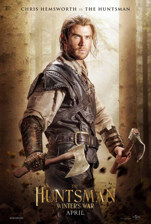 Chris Hemsworth The Huntsman Winters War movie poster