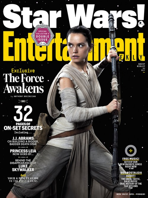 Daisy Ridley Star Wars The Force Awakens Entertainment Weekly cover November 2015