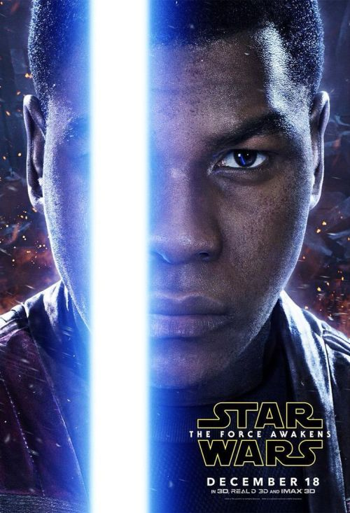 Finn John Boyega Star Wars The Force Awakens movie poster
