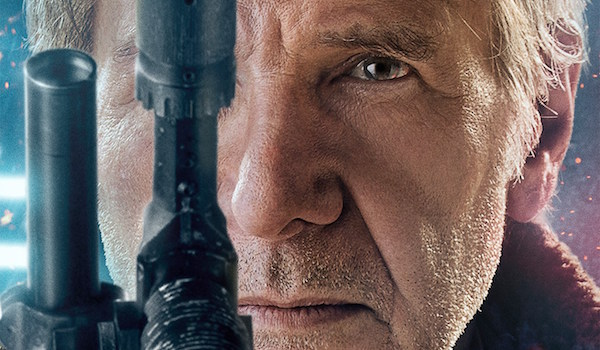 Han Solo Harrison Ford Star Wars The Force Awakens movie poster