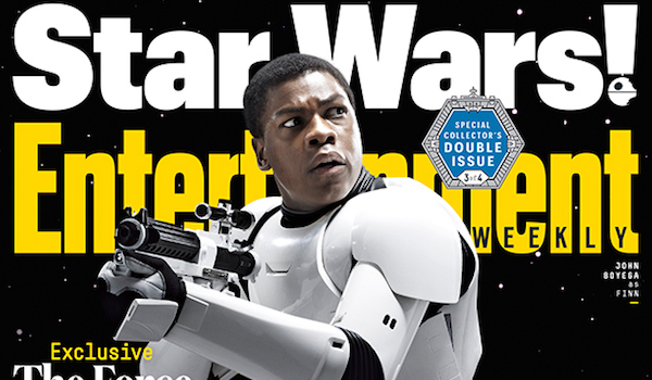 John Boyega Star Wars The Force Awakens Entertainment Weekly cover