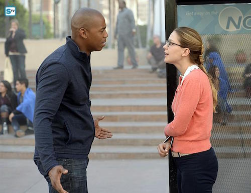 Mehcad Brooks Melissa Benoist Supergirl Human for a Day