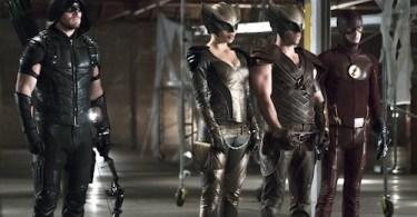 Stephen Amell Ciara Renee Falk Henschel Grant Gustin Arrow The Flash