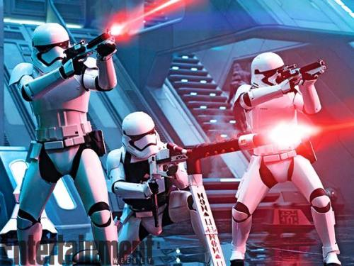 Stormtroopers Firing Blaster Star Wars The Force Awakens Entertainment Weekly