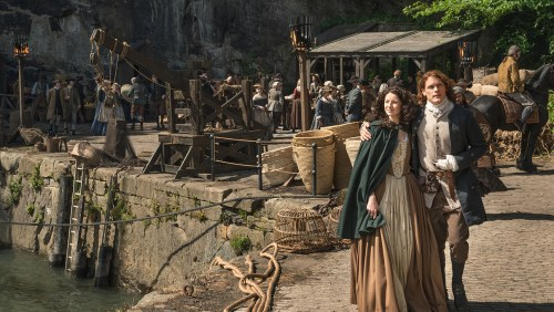 Caitriona Balfe Sam Heughan Outlander Season 2