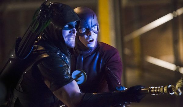Stephen Amell Grant Gustin Arrow Legends of Yesterday