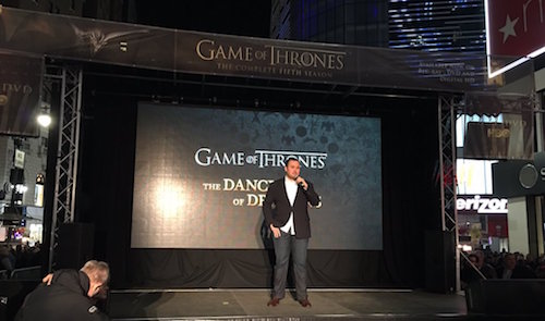 Dave Hill Game of Thrones NYC Event