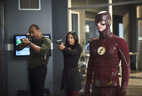 Jesse L. Martin Candice Patton Grant Gustin Versus Zoom The Flash