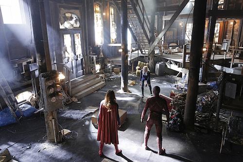 Melissa Benoist Grant Gustin Brit Morgan World's Finest Supergirl