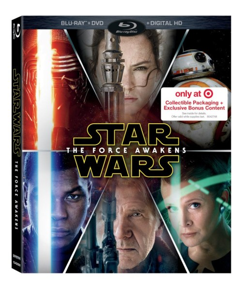 Target Star Wars The Force Awakens Blu-ray Cover