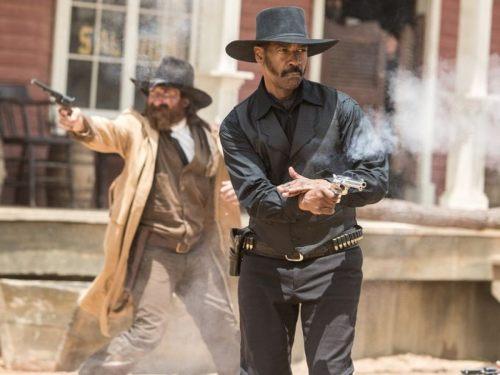 Denzel Washington Shooting Gun The Magnificent Seven