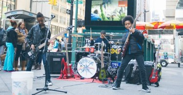Malcolm Brickhouse Jarad Dawkins Alec Atkins Unlocking the Truth Playing Subway Entrance