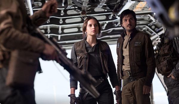 Diego Luna Felicity Jones Rogue One: A Star Wars Story