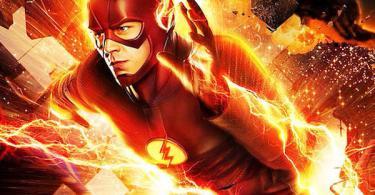 Grant Gustin The Flash Breaking Through Wall