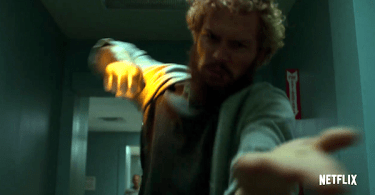 Finn Jones Punching Door Iron Fist