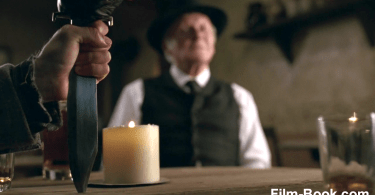 Anthony Hopkins Knife in Table Westworld Contrapasso