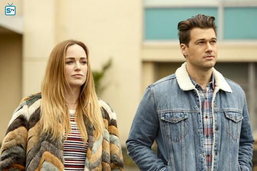 Caity Lotz Nick Zano Raiders of the Lost Art Legends of Tomorrow