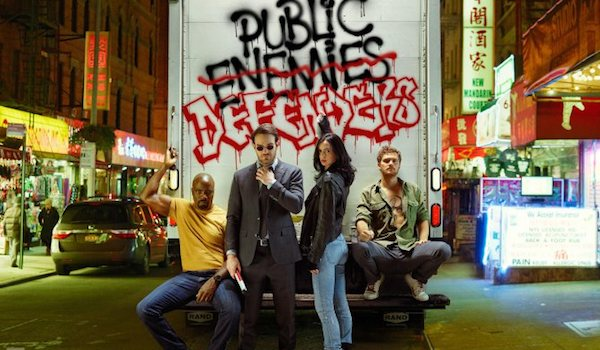 Mike Colter Charlie Cox Krysten Ritter Finn Jones The Defenders EW Shoot