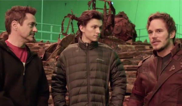 Robert Downey Jr. Tom Holland Chris Pratt Avengers: Infinity War