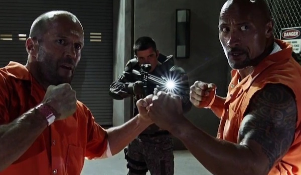 Jason Statham Dwayne Johnson The Fate of the Furious