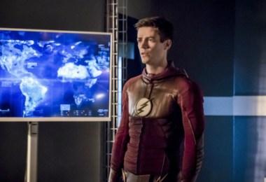 Grant Gustin Finish Line The Flash