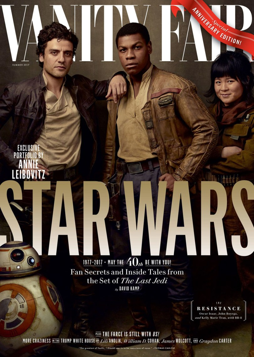 John Boyega Oscar Isaac Kelly Marie Tran Star Wars: The Last Jedi Vanity Fair Cover