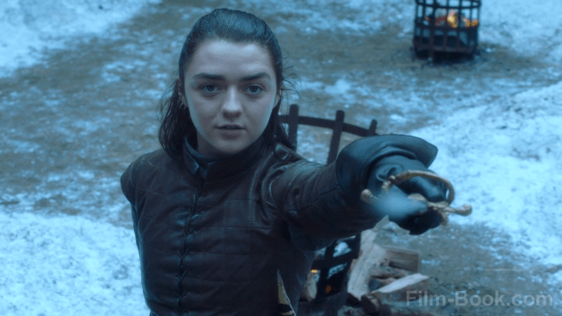 Maisie Williams Needle Game of Thrones The Spoils of War