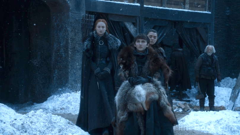 Maisie Williams Sophie Turner Isaac Hempstead Wright Game of Thrones The Spoils of War