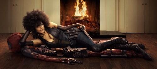 Zazie Beetz Domino Deadpool Costume Deadpool 2