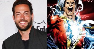 Zachary Levi Shazam! Comic Book Split