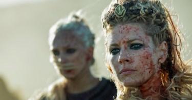 Katheryn Winnick Blood Smeared Vikings: Season 5