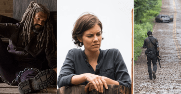 Khary Payton Lauren Cohan Andrew Lincoln The Walking Dead The King the Widow and Rick