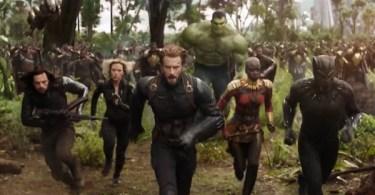 Sebastian Stan Scarlett Johansson Chris Evans Danai Gurira Chadwick Boseman Avengers: Infinity War