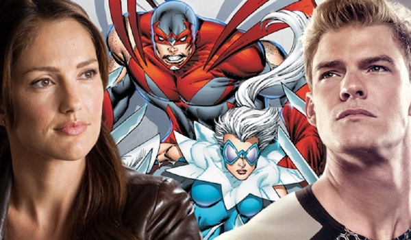 Alan Ritchson Minka Kelly Hawk Dove Comic Book