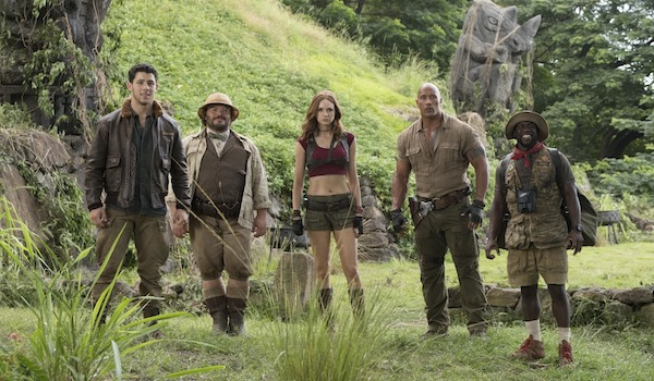 Nick Jonas Jack Black Kevin Hart Dwayne Johnson Karen Gillan Jumanji: Welcome to the Jungle