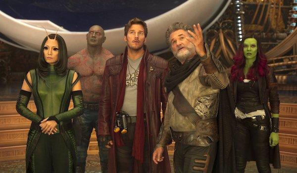 Zoe Saldana Chris Pratt Kurt Russell Dave Bautista Pom Klementieff Guardians of the Galaxy Vol. 2