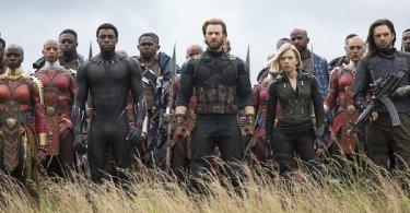 Danai Gurira Chadwick Boseman Chris Evans Scarlett Johansson Sebastian Stan Avengers Infinity War