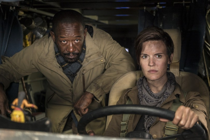 Maggie Grace Lennie James Fear the Walking Dead Season 4 Episode 1