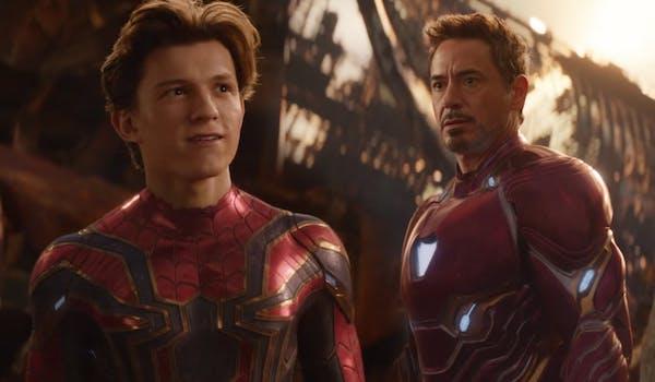 Tom Holland Robert Downey Jr Avengers Infinity War