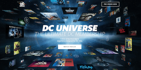 DC Universe Home Page