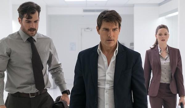 Henry Cavill Tom Cruise Rebecca Ferguson