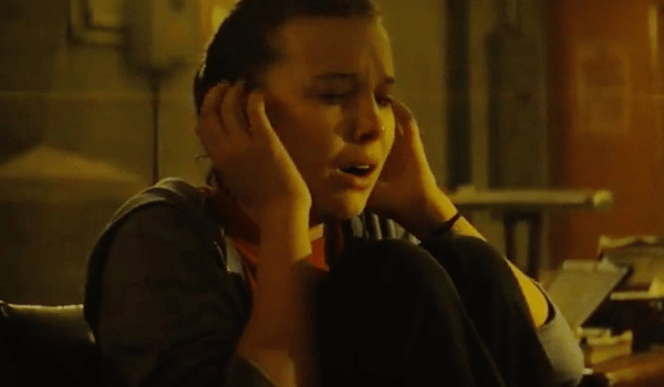 Millie Bobby Brown Reaching Monarch Godzilla King of the Monsters