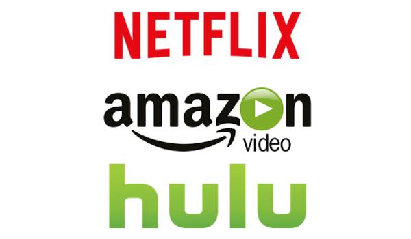 Netflix Amazon Hulu Logos