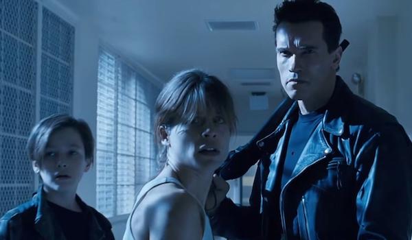 Arnold Schwarzenegger Linda Hamilton Edward Furlong Terminator 2 Judgement Day