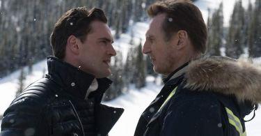 Liam Neeson Tom Bateman Cold Pursuit