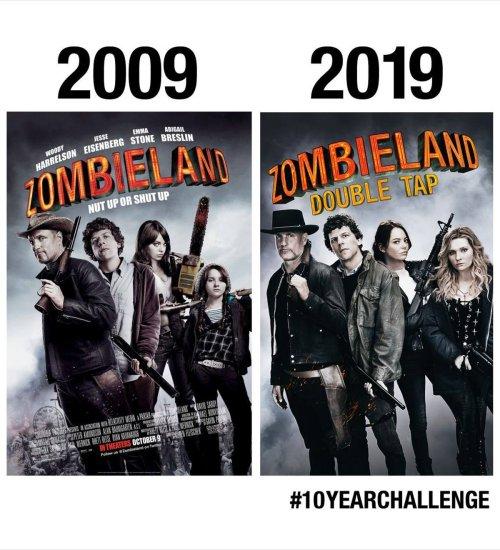 Zombieland Doubletap 10yearchallenge Movie Poster