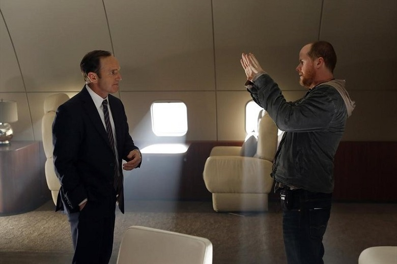 Clark-Gregg-and-Joss-Whedon-on-the-set-of-Marvels-Agents-of-SHIELD-TV-Series