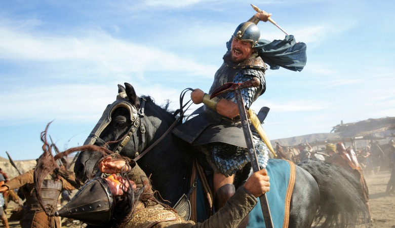 DF-04525 - Moses (Christian Bale) charges into a fierce battle.